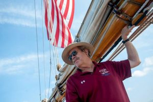 Captain Jan Miles, with over 35 years' experience, photo courtesy Maryland Gazette
