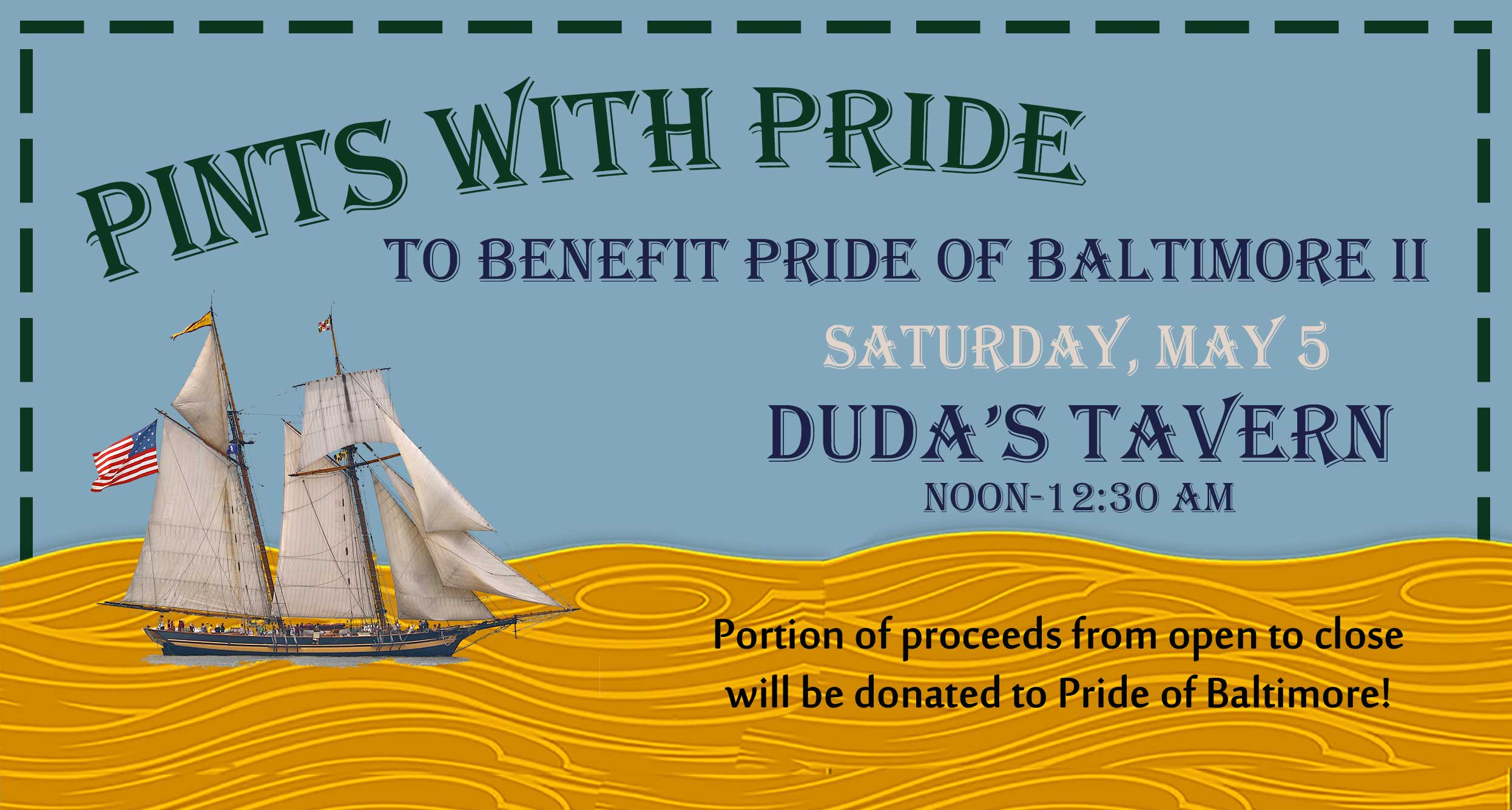Pints with Pride at Duda's Tavern May 5, 2018