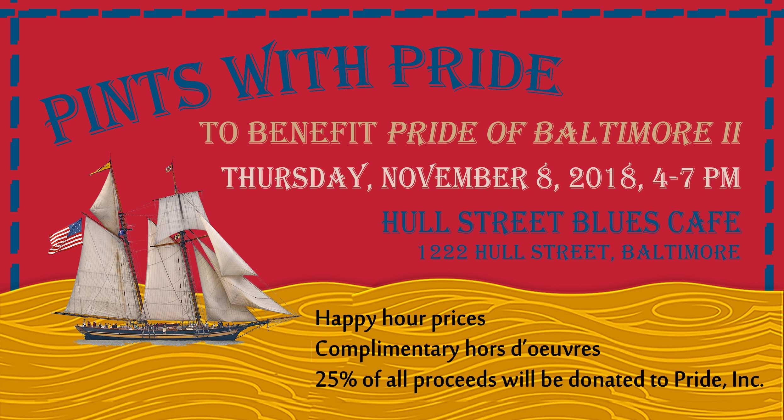 Pints with Pride at Hull Street Blues Cafe November 8, 2018