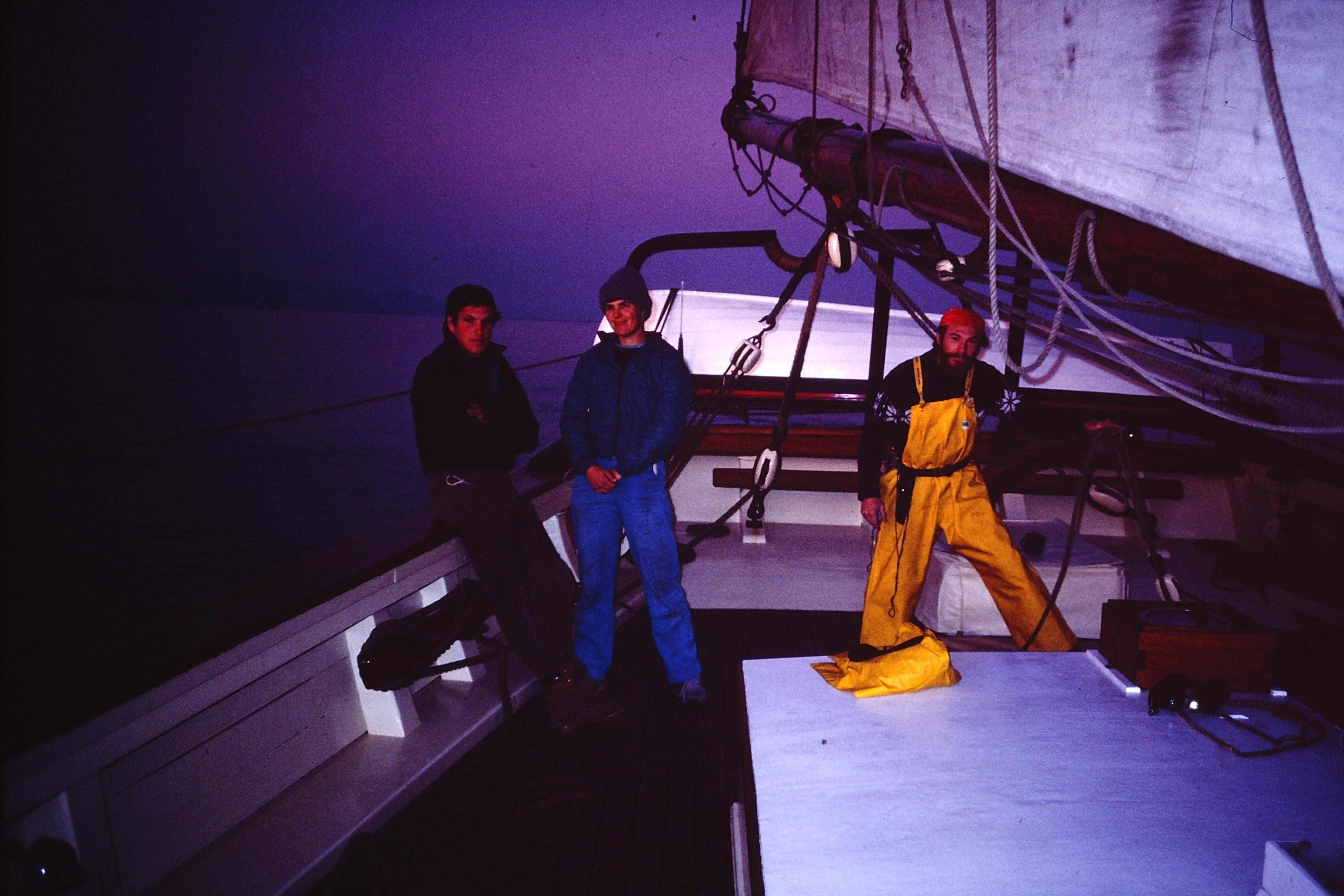 Vinny, Nina, and Barry, 1986