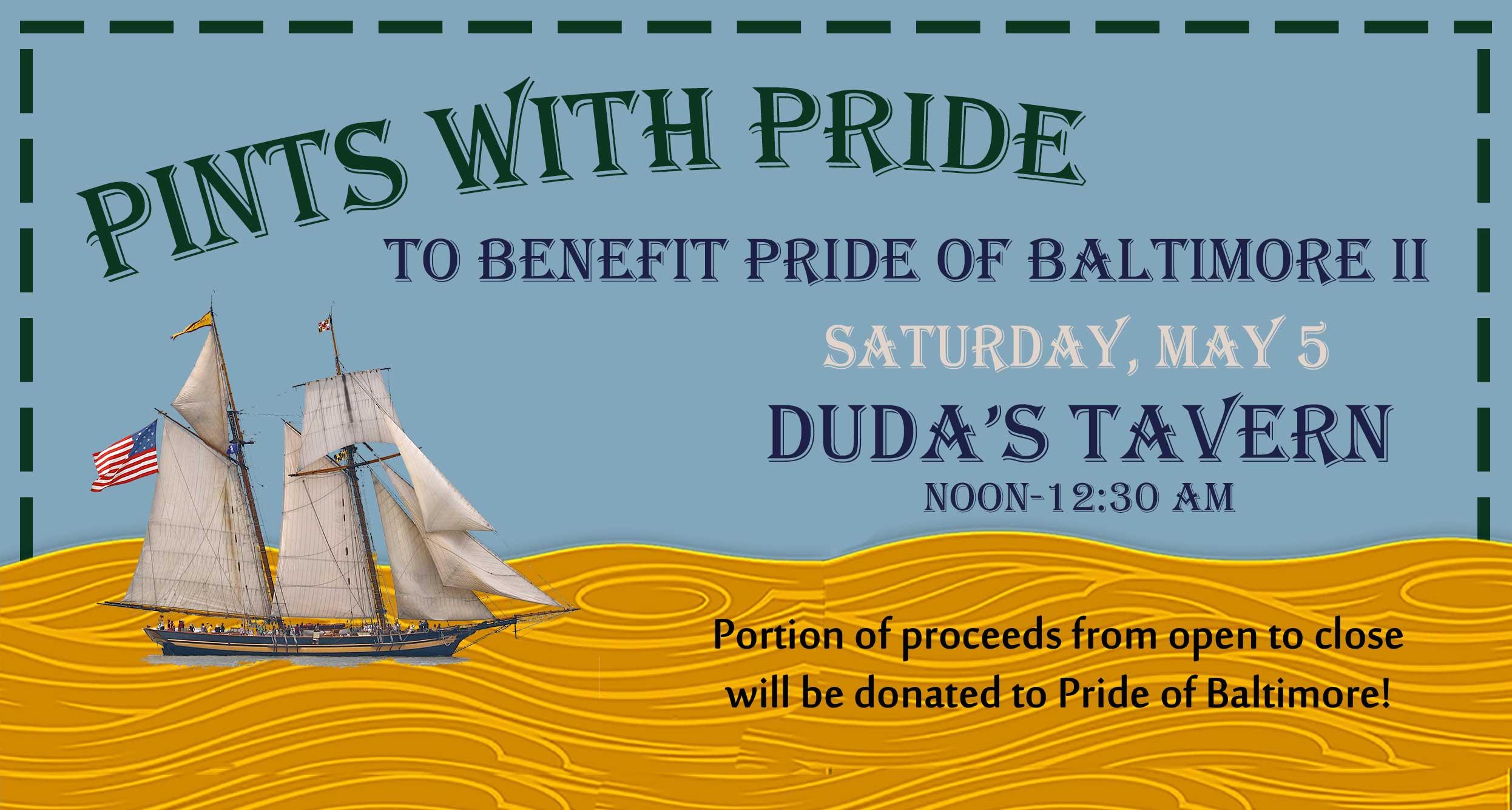Pints with Pride at Duda's Tavern May 5, 2018
