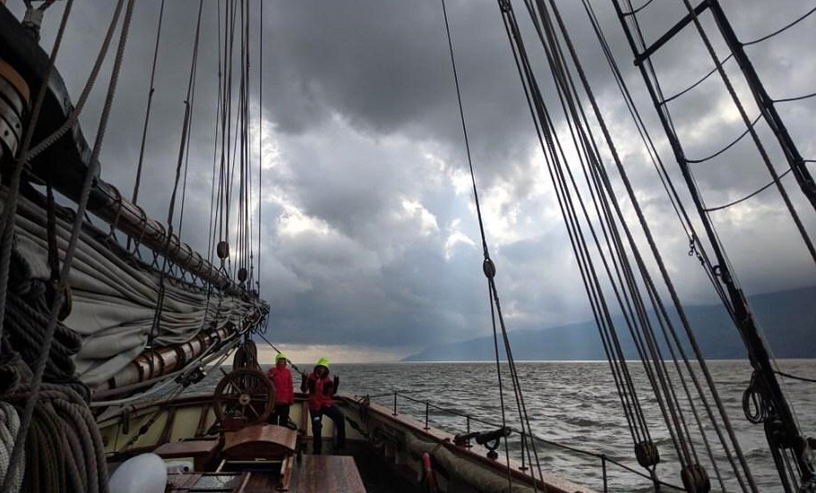 Dark skies over the St. Lawrence River
