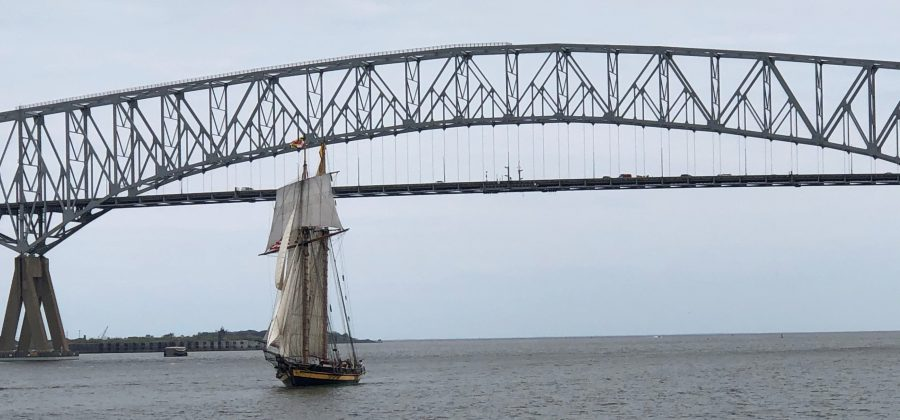 PRIDE II returning to Baltimore under sail