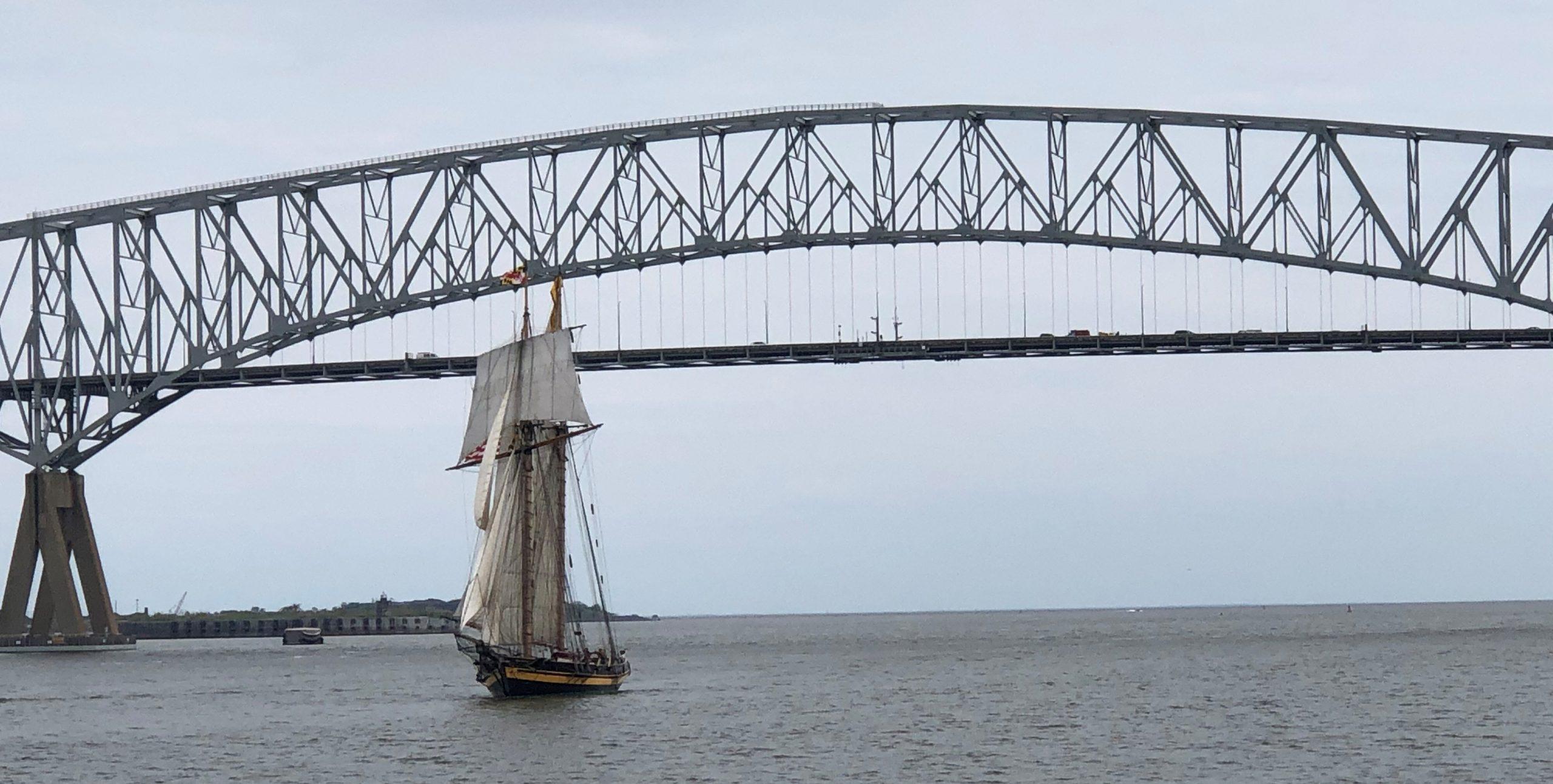 PRIDE II returning to Baltimore under sail